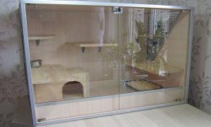 Как сделать витрину для шиншиллы своими руками в домашних условиях