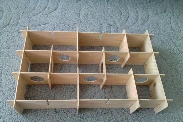 Пример лабиринта из картона