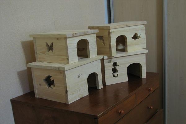Деревянные конструкции для шиншиллы