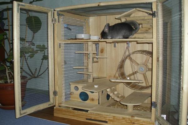 Атрибуты в клетке для животного