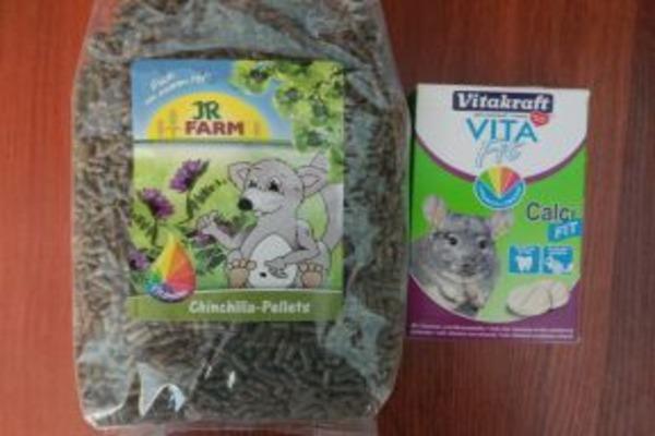 Корм и витаминные препараты для зверьков