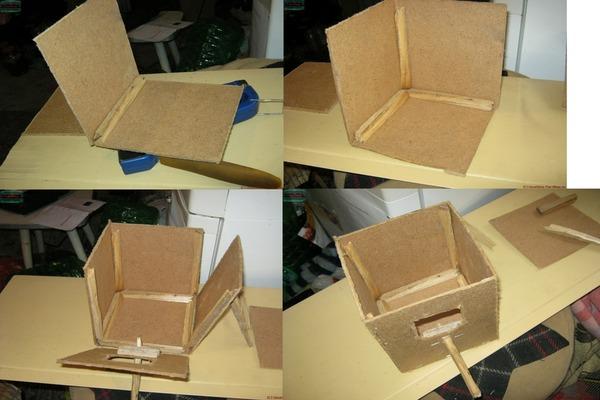 Последовательность изготовления гнездового домика
