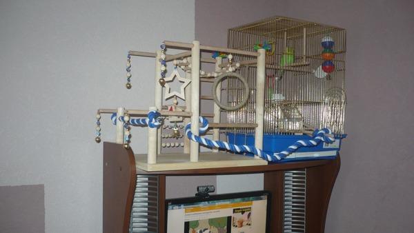 Игровая площадка для попугаев