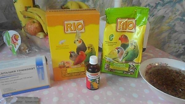 Витаминные препараты для попугаев